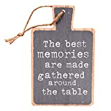 #9: Scrafts Best Memories Platter Shaped Wooden Wall Hanging/Art Poster. Size: LH(Inches) - 5.5X8.5, Brown