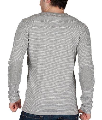 Selected Homme Ingenieur Men'Split Neck Long Sleeve Shirt Grau - Hellgrau-meliert