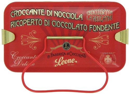 Leone Croccosetta-Krokant mit Schokolade, in Geschenkdose, 150g.