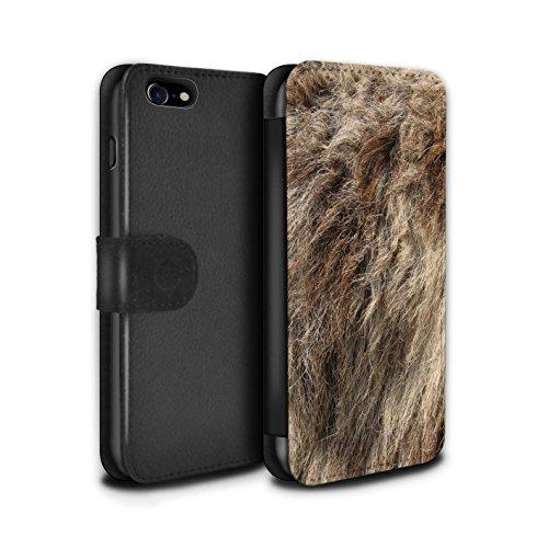 Stuff4 Coque/Etui/Housse Cuir PU Case/Cover pour Apple iPhone 5/5S / Zèbre Design / Motif Fourrure Animale Collection Loup