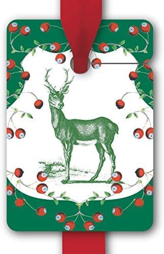 Élegantes etiquettes de Cadeau pour noël noël noël   gift tags en papier   cartes de cadeaux (8 Pcs = 1 paquet) pour une belle emballage avec un cerf B012OQNJ82   Exquise (in) De Fabrication  9d73b3
