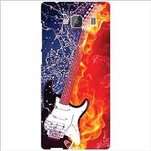 Xiaomi Redmi 2 Prime Back Cover - Love & Guitar Designer Cases