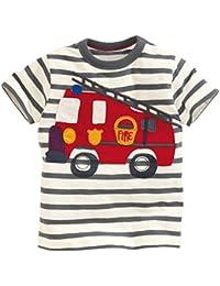 Kaily Kind Baumwolle Sommer kurze Ärmel Streifen T-Shirt