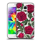 Head Case Designs Rote Variante Rosen Und Wildblumen Ruckseite Hülle für Samsung Galaxy S5 Mini