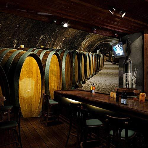 Benutzerdefinierte 3d Wandbild Holz Fass Stil Retro Wein Keller Tunnel Wohnzimmer Werkzeug Dekorative Malerei Breite 400cm * Höhe280cm pro - 400 Dekorative Akzente