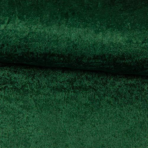 Stoffe Werning Pannesamt Tessuto Tinta Unita Verde Abete Tinta Unita Costumi di Carnevale Fai da Te Cucito - Prezzo Gilt per 15 m