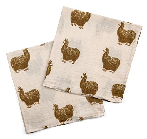 Milkbarn Bamboo Cotton Burp Cloths - Pink Boot Alpaca by MilkBarn (Baby Bib Boot)