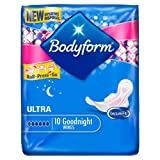 Bodyform Ultra Goodnight With Wings 10 per pack Case of 4