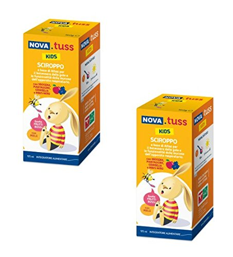2 Nova Argentia Nova Tuss Kids Sciroppo Integratore Alimentare 125 ml