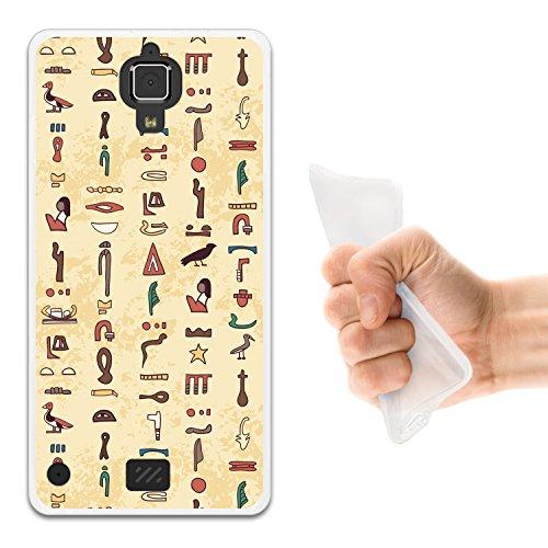 WoowCase Hisense C20 King Kong II 4G Hülle, Handyhülle Silikon für [ Hisense C20 King Kong II 4G ] Ägiptische Symbole 2 Handytasche Handy Cover Case Schutzhülle Flexible TPU - Transparent
