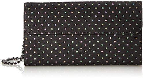 Liebeskind Berlin Damen Mariaw7 Starst Geldbörse, Schwarz (Oil Black), 3x12x23 cm