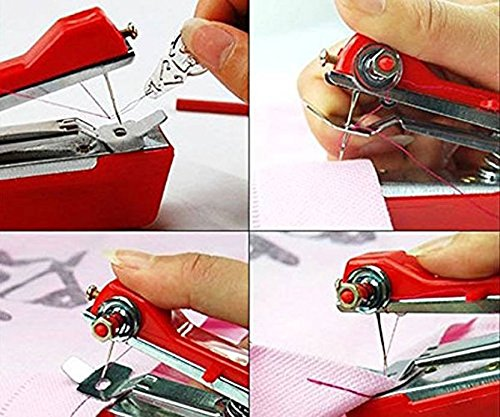 Snowpearl Mini Stapler Style Ami Hand Sewing Machine for Quick and Easy Sewing
