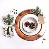 Platzteller Copper Kupfer kupferfarbener Teller Metall Servierteller Dekoteller