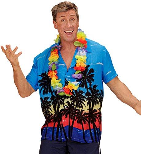 Preisvergleich Produktbild Karneval Klamotten Hawaii Kostüm Herren Hawaii-Hemd Palmen Karneval Herrenkostüm Größe 54