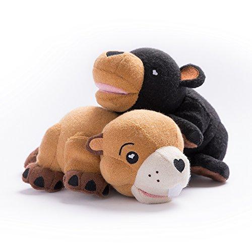 SoapSox Wie auf Shark Tank, gefüllte Tier Bad Scrub Schwamm, Waschlappen, Puppe, Spielzeug für Babys oder Kinder gesehen ... (Biber)