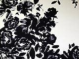 John Kaldor groß Blumen Bordüre Print Slinky Satin Kleid