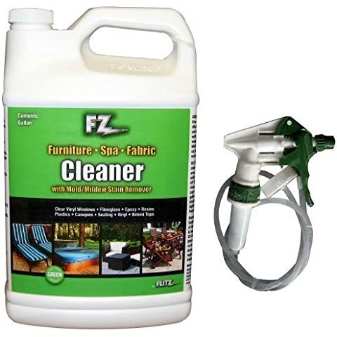Flitz Outdoor Living Cleaner f/Furniture, Spa & Fabric w/Mold & Mildew Stain Remover - 1 Gallon (128oz) Refill by Flitz