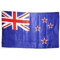 Qualitäts Fahne Flagge 4001659071218 - Bandera de Nueva Zelanda (90 x 150 cm, con banda reforzada para el izado)