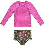 CharmLeaks Baby Two Piece Tankini Rash Guard Polka Dots Blumen Mit UV Schutz 2-3 Jahre
