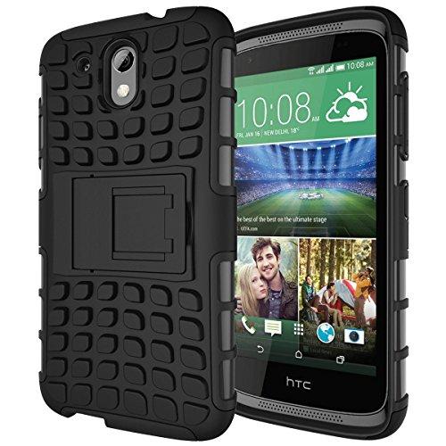 [scimin] Desire 526G + Case, Heavy Duty Dual Layer stoßfest/Impact Widerstand Hybrid Rugged Schutzhülle mit eingebautem Ständer für HTC Desire 526G + Dual Sim