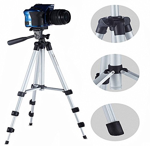 Teconica 3110 Foldable Camera Tripod with Mobile Clip Holder Bracket for All DSLR Cameras and Smartphones (Assorted Colour)
