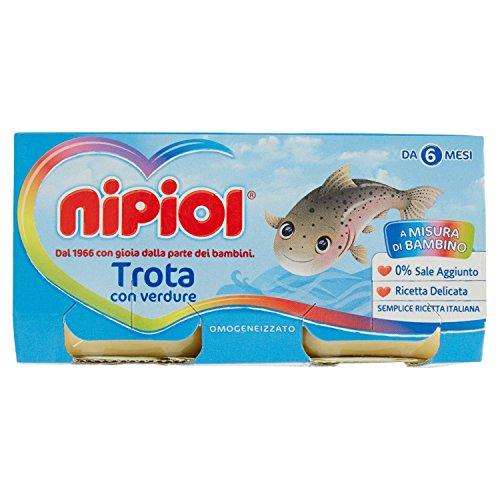 Nipiol Omogeneizzato di Pesce Trota 2 x 80g