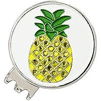 PINMEI Gorro de Golf magnético con Marcador de Bola de Golf de Frutas Brillantes, Pineapple
