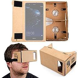 DURAGADGET Gafas de Realidad Virtual VR para Smarphones Smartphone Huawei Honor V9 , Huawei P10 Plus , Huawei P10 , Huawei P8 Lite (2017) , Huawei Y6