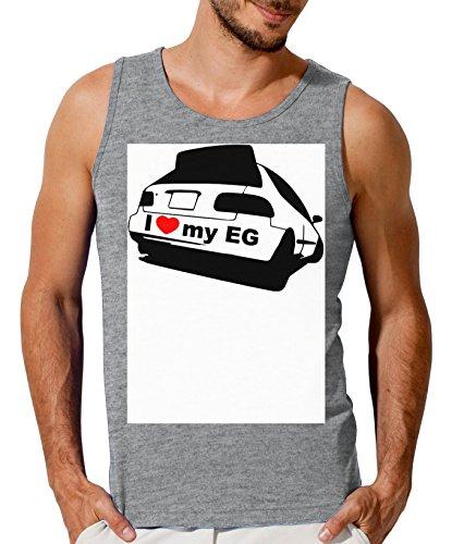 I Love My EG Honda Civic Men's Tank Top T-Shirt XX-Large
