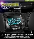"""XTRONS 2 Stück 7"""" HD DVD Player für Autositz Auto Bildschirm für Kopfstütze mit Leder Adeckung Windows CE System Headrest unterstützt 32 Bits Spiele IR Transmitter FM Transmitter USB Slot"""