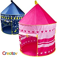 Creatov Children Play Tent Girls Castle For Indoor/Outdoor Use, Foldable With Carry Case Free Pink