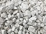 Marmorkies weiss 40-60mm Marmorsplitt 25kg Sackware gebrochen Gartenkies