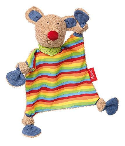 sigikid, Mädchen und Jungen, Schnuffeltuch Maus, Colin Colori, Mehrfarbig, 41538 (Baumwoll-jersey Tröster)