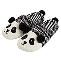 JLCP Unisex Cotton Slippers, Cute Panda Autumn And Winter Cotton Warm Home Shoes Non-Slip Comfortable Breathable Slippers for Men And Women