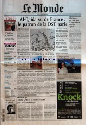 MONDE (LE) [No 17925] du 12/09/2002 - SERIE - HORIZONS - LA REPENTANCE DE KHARTOUM - AIR FRANCE - ARRETS DE TRAVAIL CONTRE LA PRIVATISATION PROCES MILOSEVIC - LES JOURNALISTES DOIVENT-ILS TEMOIGNER DEVANT LE TPI ? ISRAEL - UN ARABE ISRAELIEN DECHU DE SA NATIONALITE MALI - SANS-PAPIERS - ENTRETIEN AVEC LE PRESIDENT AMANI TOURE TECHNOLOGIE - LE TRAITEMENT DES ORDURES MENAGERES VOYAGES - LA BOURGOGNE VUE DU CANAL JARDINAGE - BIEN PLANTER PORTRAIT - BATTISTI, EXIL DE PL