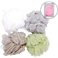 Esponja de Baño, Kapmore 4+1 Pack Esponja de Baño Suave Esponja de Ducha Esponja de Ducha Esponja de Jabón Puff Peeling Esponja