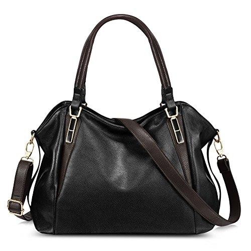 Vbiger Damen Handtaschen Damen Henkeltaschen Elegante Umhängetasche für Damen weibliche Schultertasche (Schwarz+)