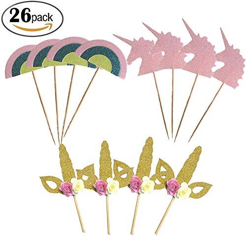 ake Topper, Essen Picks Mädchen Geburtstag Party Kuchen Dekor Cupcake Party Picks, 26 Stück (Cupcake Für Mädchen)