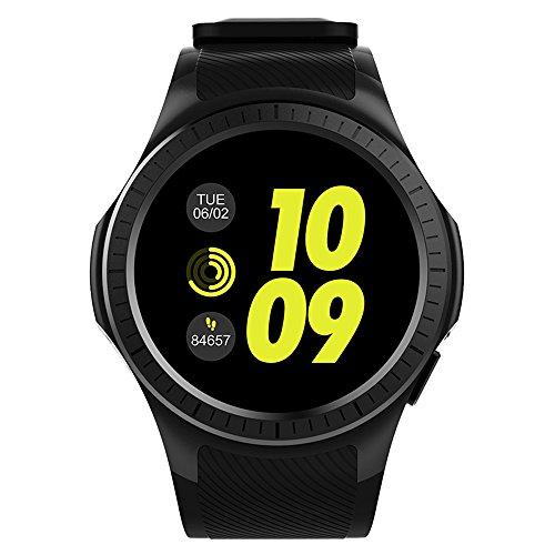 Docooler Microwear L1 Smartwatch 2G Teléfono GSM reloj 1.3 Pulgadas Redondo HD IPS Pantalla Bluetooth Monitor de sueño de ritmo cardíaco Cámara remota Presión arterial Reloj deportivo GPS para Smartphone