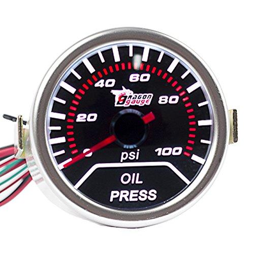 E Support™ 12V Auto Motore 2' 52mm Universale Pressione dell'olio Manometro
