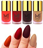 #2: MI Fashion Matte Nail Polish Pack of 4(9.9 Ml Each)