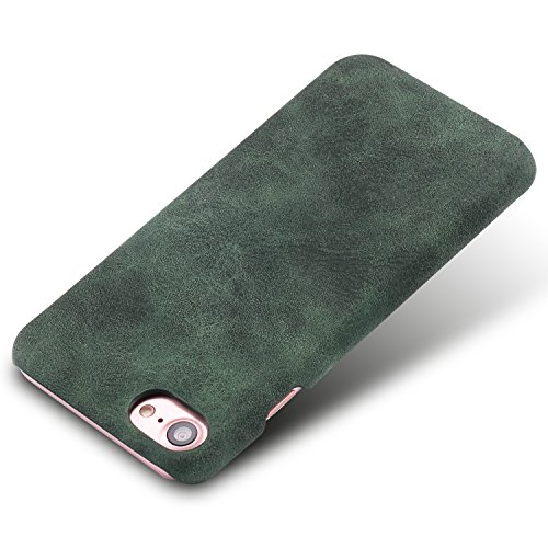iPhone 8 Case,Genuine Leather Magnetic Case Cover per iPhone 8 (Rosso) verde