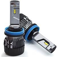 Cool CREE LED-1 anno di garanzia Lampadine a farfalla H11 LED 8000LM 72W IP65 6500K COB per i corredi dei fari dellautomobile