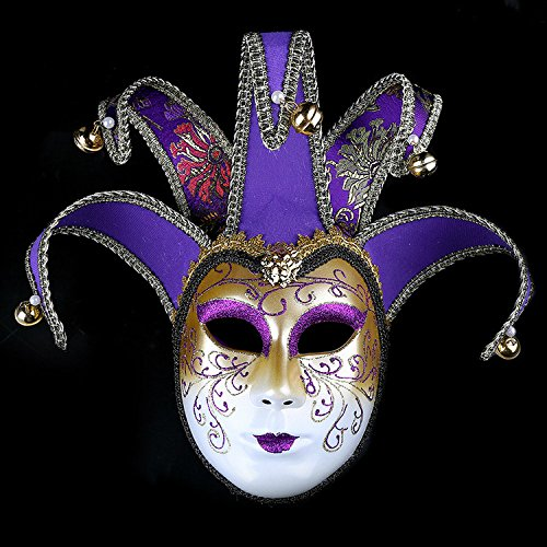 K&C Handgemalte Halloween Masquerade Venedig Party Lace Maske Lila