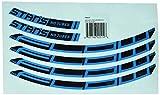 NoTubes Sticker ZTR Flow MK3 Inhalt: 4 Aufkleber für eine Felge MY2017 Aufklebersatz, blau, 27.5 Zoll