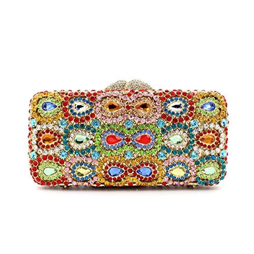 Dinner-Paket Europa und den Vereinigten Staaten Stil aristokratischen Tasche Handtasche Wassertropfen Diamantbohrer 2 Farbe color 1