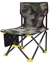 Huqiqun Chaise pliable Oxford durable Tabouret Portable pour voyage/activité de plein air/pêche