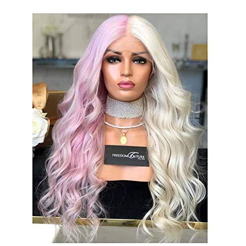 ke, Perücke weibliche Hälfte Pulver Hälfte weißes gewelltes langes lockiges Haar ()