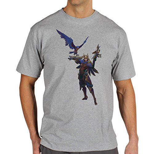 League Of Legends Fans Art Quinn Herren T-Shirt Grau