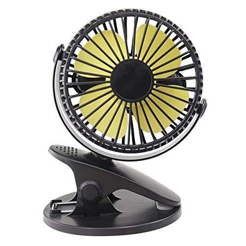 Geschwindigkeiten USB Brushless Motor Desktop Turbine Kleiner Lüfter (schwarz ohne Batterie) ()